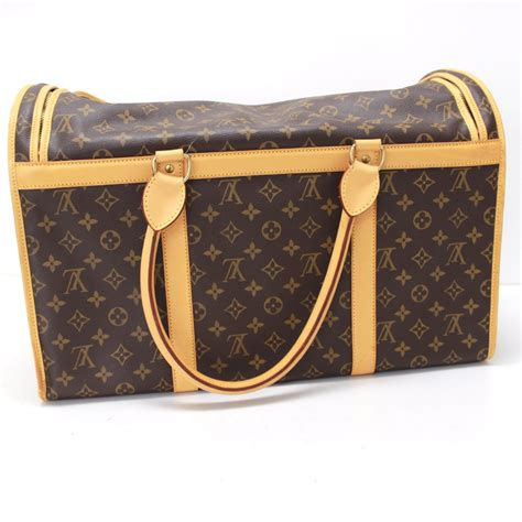 authentic louis vuitton monogram sac cian  dog carrier
