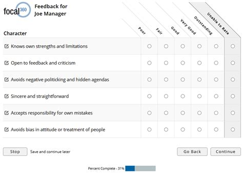 360 degree feedback form template sle 360 degree feedback surveys