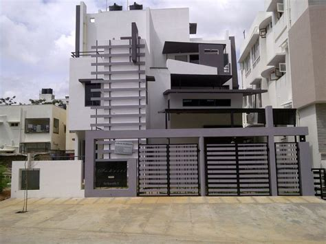 home exterior design in bangalore srinivasan s bungalow front elevation design actual site