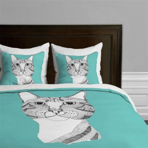 cat design quilt cover adorable cat print comforters and bedding sets for cat lovers