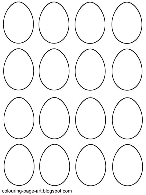 small easter egg template blank easter egg templates colouring page