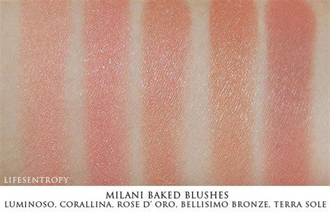 Milani Baked Blush Coralina milani baked blush swatches luminoso corallina d