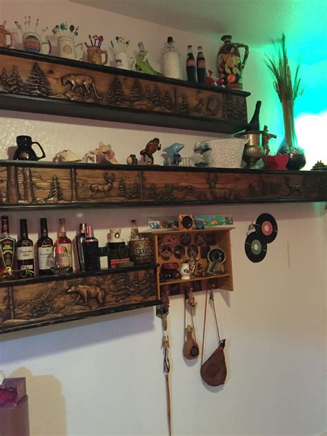 top shelf sports bar bar room shelves fireplace mantels shelves