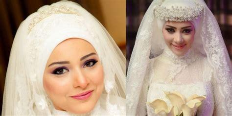 tutorial hijab pengantin 2014 tutorial wedding hijab syar i dan glamor dream co id