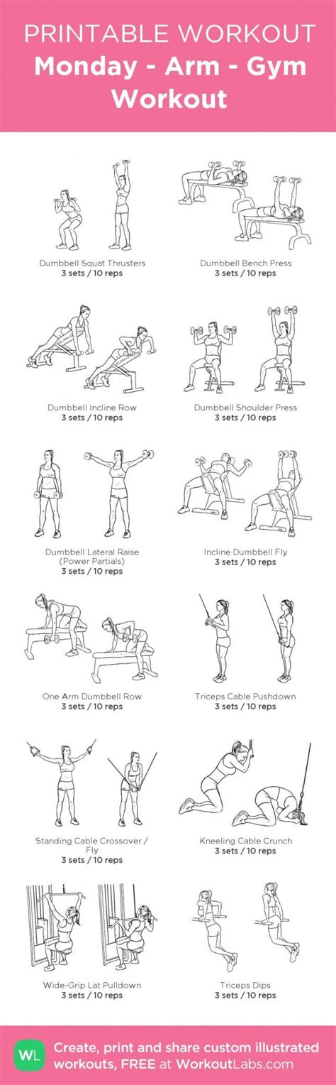 printable workouts   fit  brit