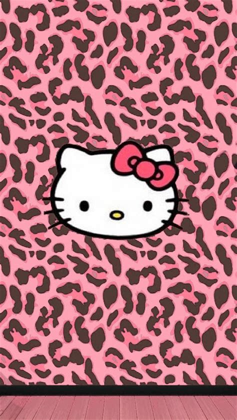 themes line hello kitty leopard love pink pink brown leopard wallpaper free
