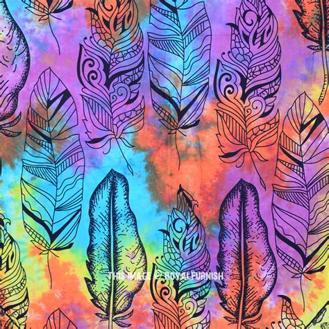 colorful tapestry colorful multi summer feathers cotton wall tapestry