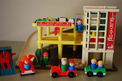 fisher price car garage vintage fisher price play family garage by aglimpsefromthepast