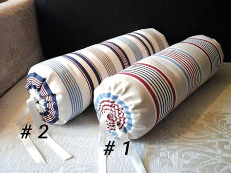 Cervical Kyphosis Pillow by Handmade Neck Roll Bolster Striped Cotton Pillow Cover Ready