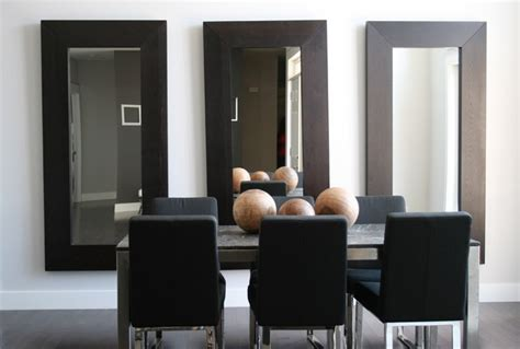 Modern Mirrors For Dining Room Contemporary Dining Room