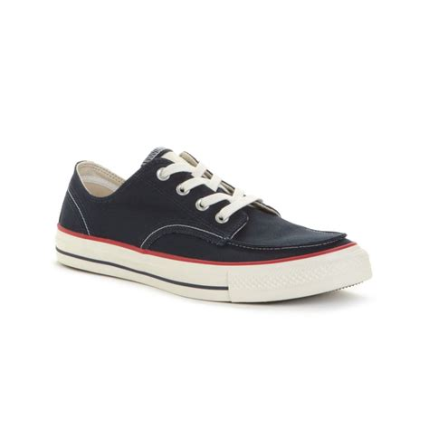 converse canvas boat shoes converse chuck taylor all star classic boat shoes in blue