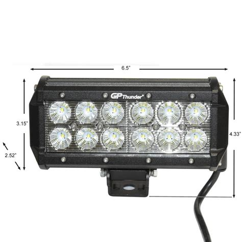 Cree Led Fog Light Bulbs 2pcs 6 5inch Road 36w Cree Led Fog L Light Bar Drl Suv Jeep 4wd Flood Ebay