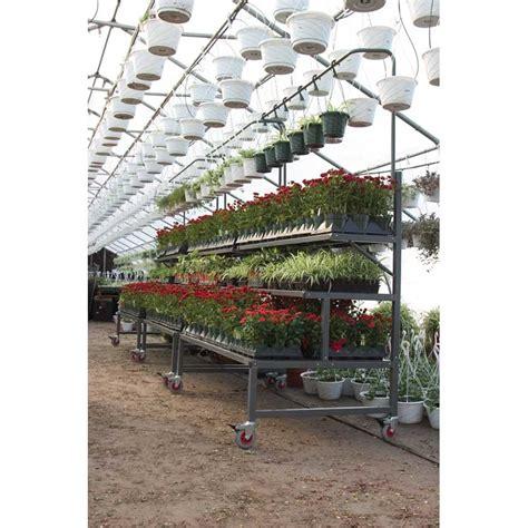 plant display racks ez grow 3 level plant display bench teksupply