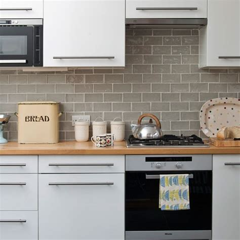 kitchen tile ideas uk white gloss kitchen mid century style edwardian terrace
