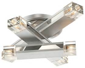 Celing Window Possini Euro Design Three Stacked Rods Ceiling Light