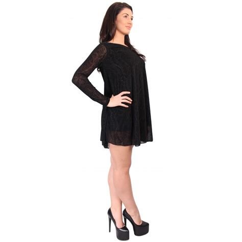 black swing dress black damask lace swing dress