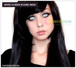 colored contacts white white screen mesh lens color contact lens