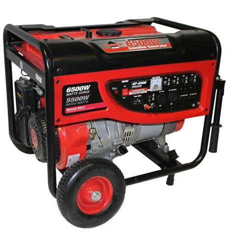 smarter tools gp 6500 5 500 watt continuous gasoline
