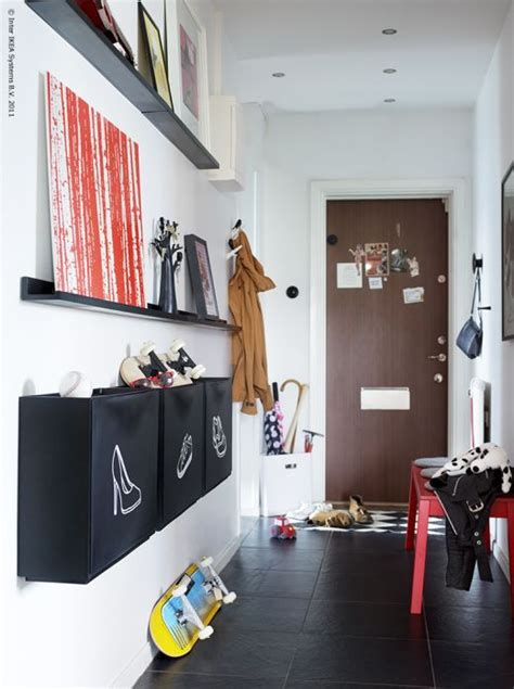 ikea entryway ideas squeezing style into a narrow hallway