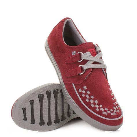 tuk shoes mens tuk sneaker creepers burgundy grey rock n rock casual