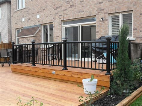 exterior aluminium railings vinyl deck railing lowes