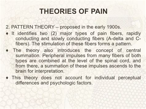 pattern theory of concept of pain