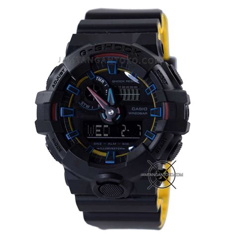 Casio G Shock Terbaru Hitam harga sarap jam tangan g shock ga 700se 1a9 hitam kuning neon