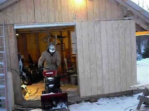 newly installed sliding door   shed youtube