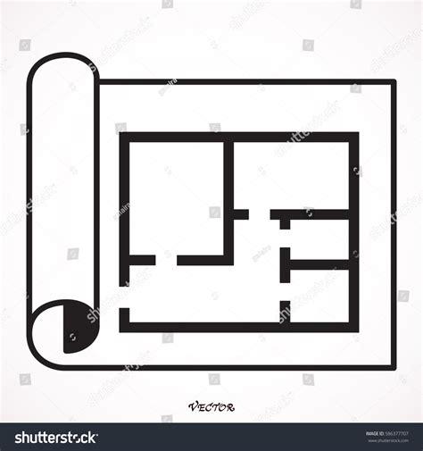 house layout vector house plan icon floor plan vector stock vector 586377707