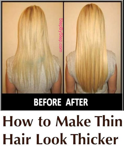 hairstyles for thin hair to make it look thicker how to make thin hair look thicker