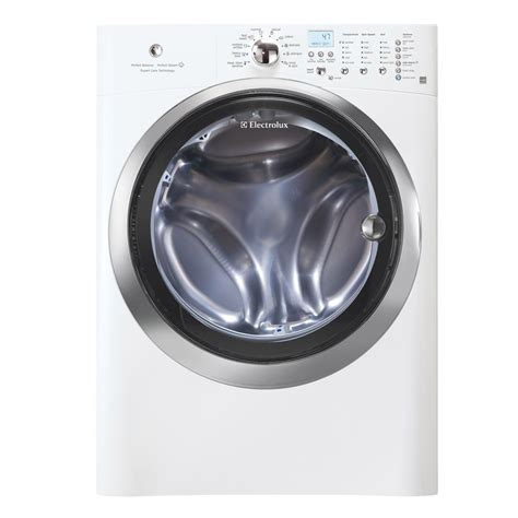 electrolux washer and dryer shop electrolux 4 3 cu ft high efficiency stackable front load washer with steam cycle island