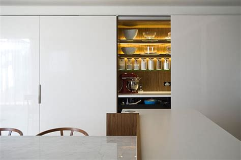 Modular Kitchen Interior by Small Space Solutions Hidden Kitchen From Minosa Design