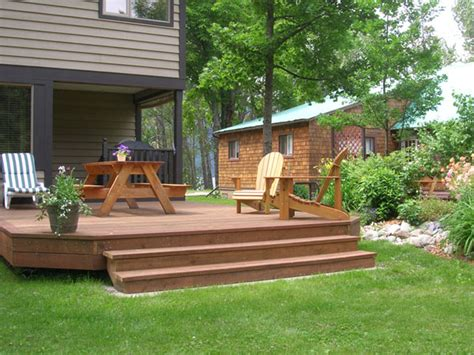 backyard deck images oldham s lakefront cottages house pictures maple
