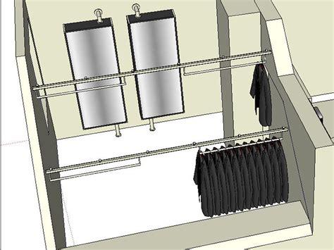 schrank auf schienen kleidergleiter die idee f 252 r ihren kleiderschrank raumax