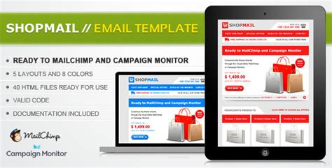Shop Mail Html Email Template By Janio Araujo Themeforest Themeforest Html Email Template