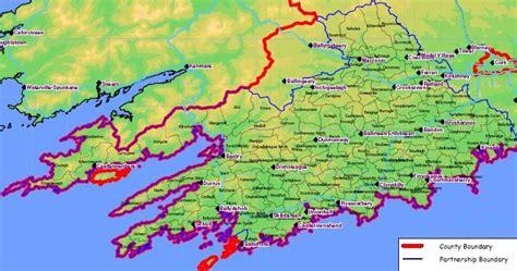 county cork ireland map west cork