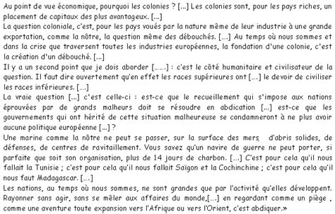la politique coloniale document sans titre
