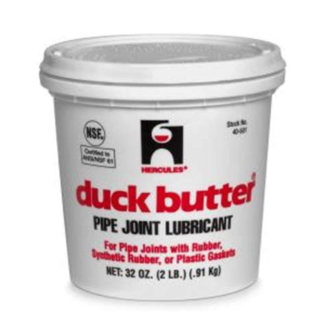 Butter Plumbing Reviews by Hercules Duck Butter 2 Lb Pipe Joint Lubricant 40501