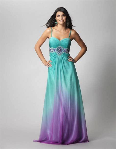 turquoise color dress purple and turquoise wedding dress