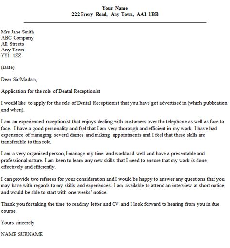cover letter exles for receptionist dental receptionist cover letter exle cover letters
