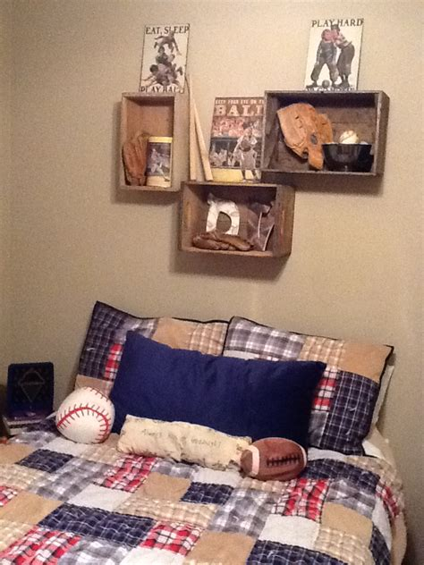 boys sports bedroom decor vintage sports bedroom wall display i love this