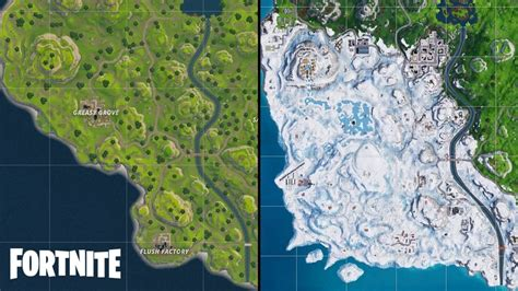 fortnite map shows   season  locations remain