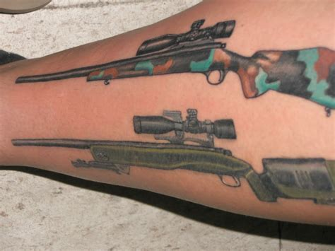 tattoos guns gun tattoos