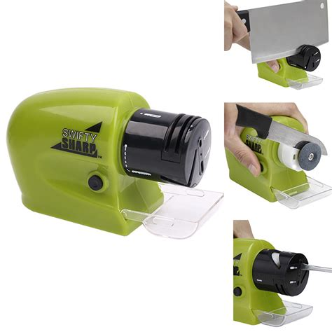 Swifty Sharp Electric Sharpener Pengasah Pisau Elektrik Swifty Sharp Electric Sharpener Pengasah Pisau Elektrik Green Jakartanotebook