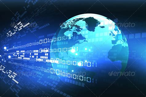 internet background with binary code Stock Photo by dileep