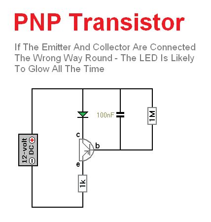 a pnp transistor is connected in a circuit so that the collector base junction remains pnp transistor basic circuit circuit diagram seekic