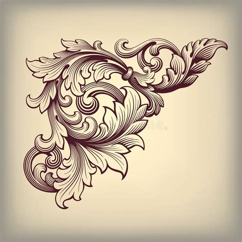 vector vintage baroque frame corner ornate stock vector