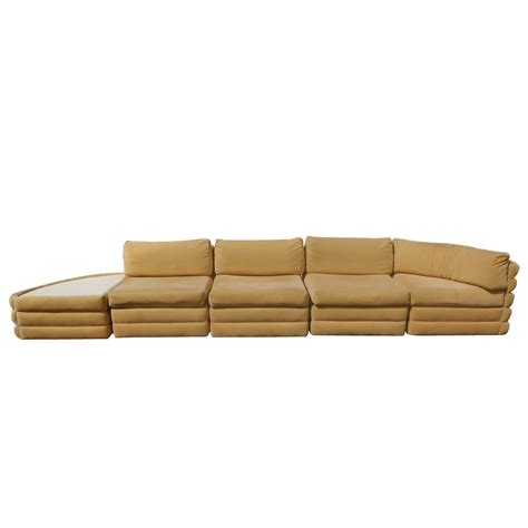 5 piece sectional couch 5 piece milo baughman thayer coggin sectional sofa couch