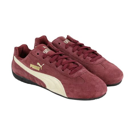 burgundy sneakers mens speed cat mens burgundy suede lace up sneakers shoes