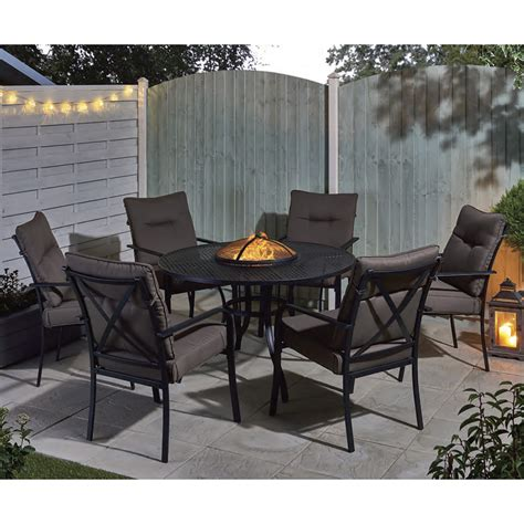 patio furniture sets with pit catalonia firepit and dining set